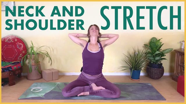 Seated Yoga Stretch for Neck and Shou...