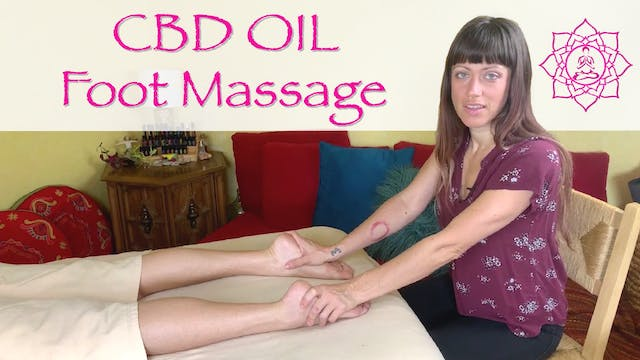 CBD Oil Foot Massage