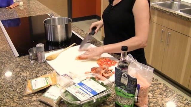 Essential Nutrition -Cooking Quinoa stew