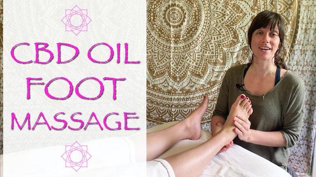 CBD Oil Foot Massage