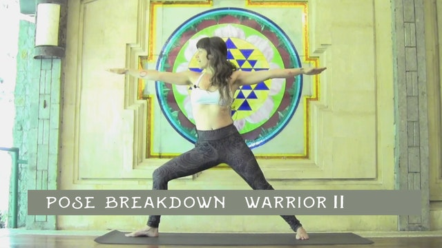 Pose Breakdown-  Warrior II