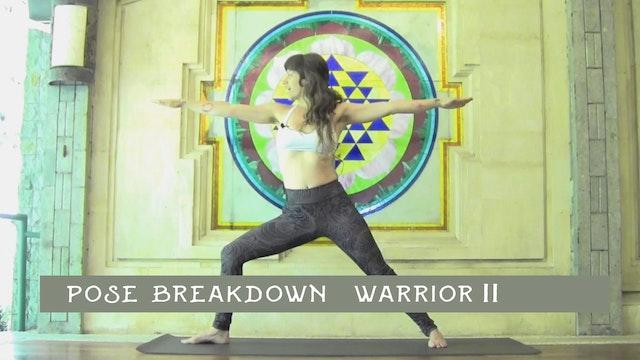 Pose Breakdown-  Warrior II