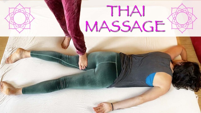 Jen Gives Thai Massage for Legs & Arms to Cole Chance
