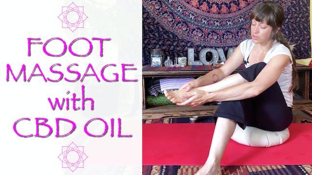 CBD Oil Self Foot massage