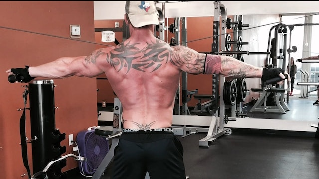 Shoulders- Rear Delt Cable Crossovers