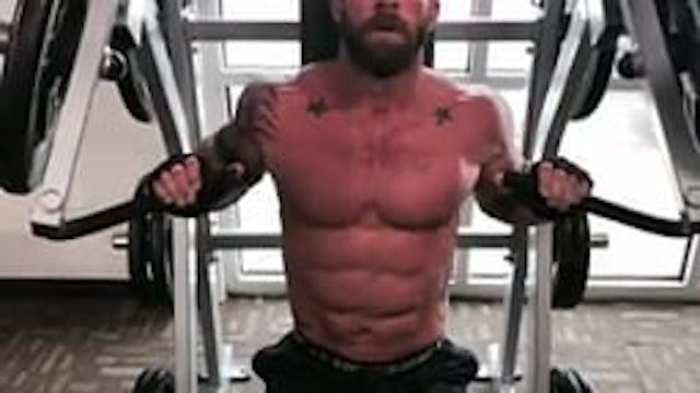Chest- Chest Press 1 and a halfs