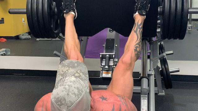 quads, hamstrings, glutes- Leg Press