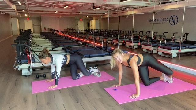 18 Min Cardio + Lower Body w/ Callie & Tamara