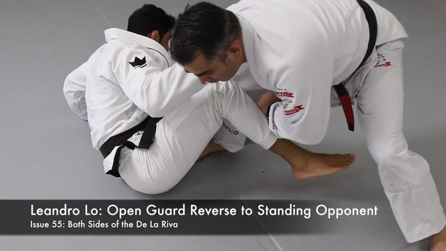 Open Guard Reverse to Standing Opponent Leandro Lo