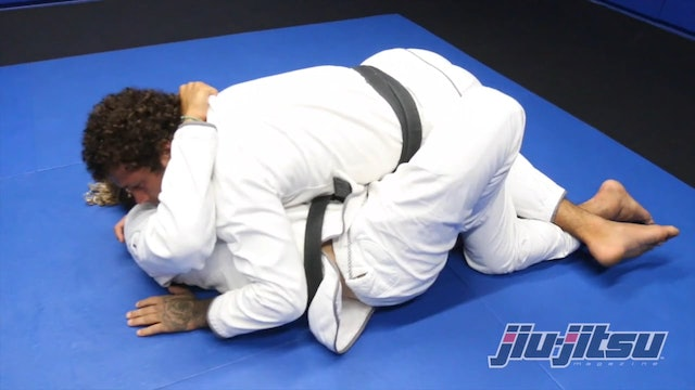 Baseball Choke From Half-Guard Bottom - Magid Hage