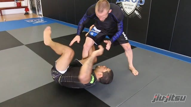 Knee bar from Upside Down Guard - And...
