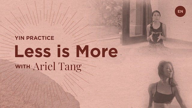 "[Live] 75m YIN ""Less is More"" - Ariel Tang"