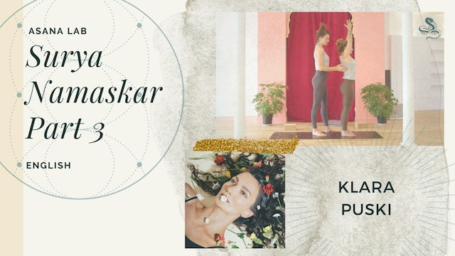 12min Asana Lab on Surya Namaskar, Part 3 - Klara Puski