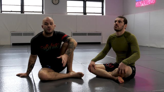 Start and Stance from Supine Guard