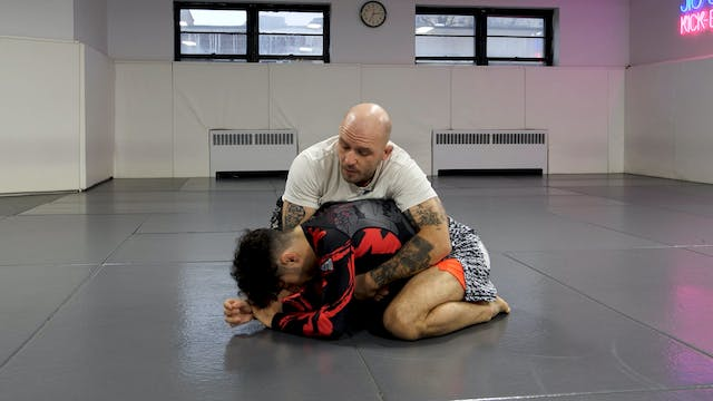 Attacking an Open Turtle: Cross Shoulder