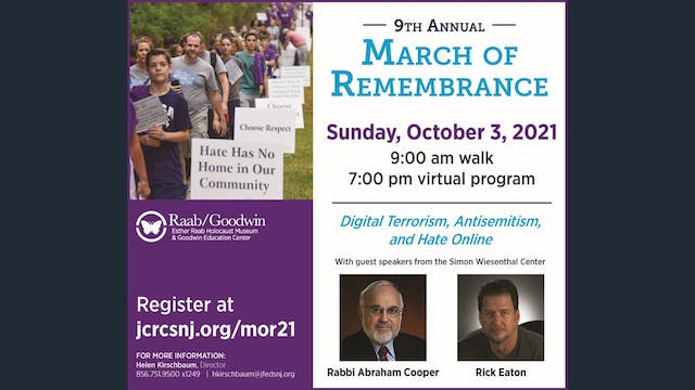9th Annual March of Remembrance Virtu...