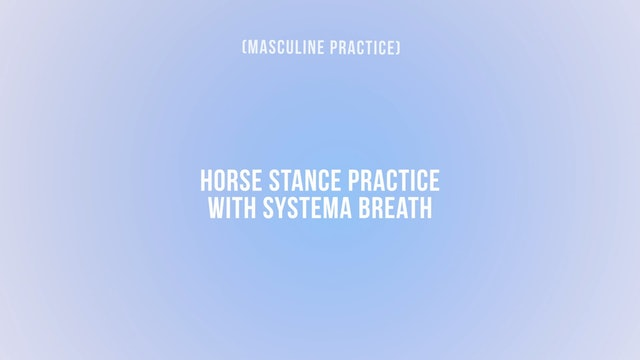 Horse Stance Practice with Systema Breath