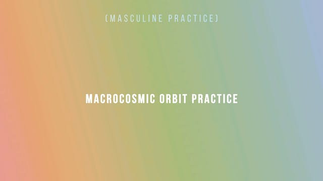 Macrocosmic Orbit Practice