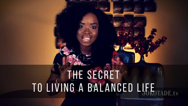A Woman's Secret to Living a Balanced Life