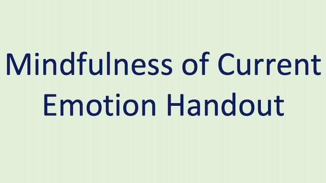 Mindfulness of Current Emotion Handout
