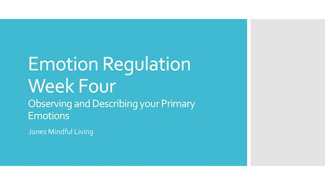 Emotion Regulation Week Four PDF
