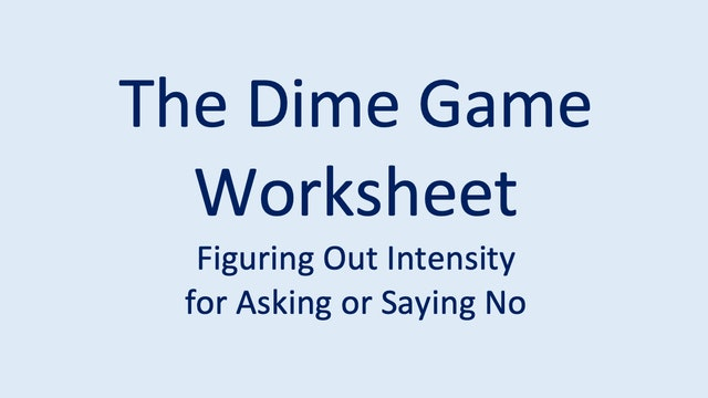 New! The Dime Game Worksheet