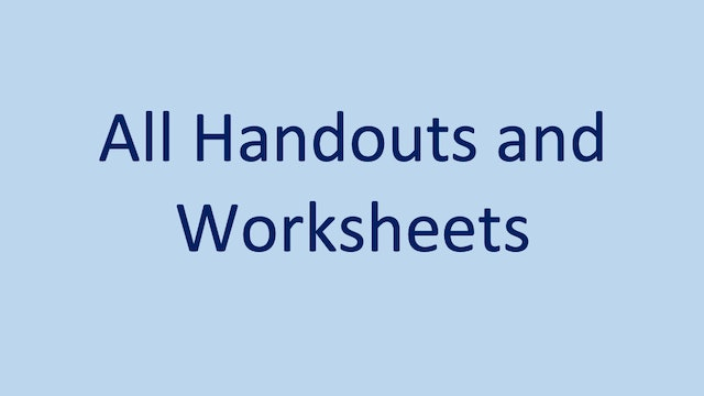 All Handouts and Worksheets
