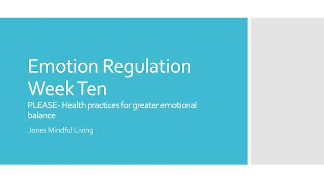 Emotion Regulation Week 10 PDF