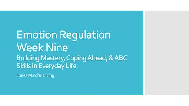 Emotion Regulation Week Nine PDF
