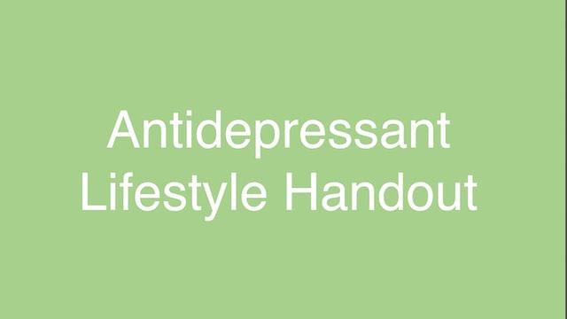 Antidepressant Lifestyle Handout