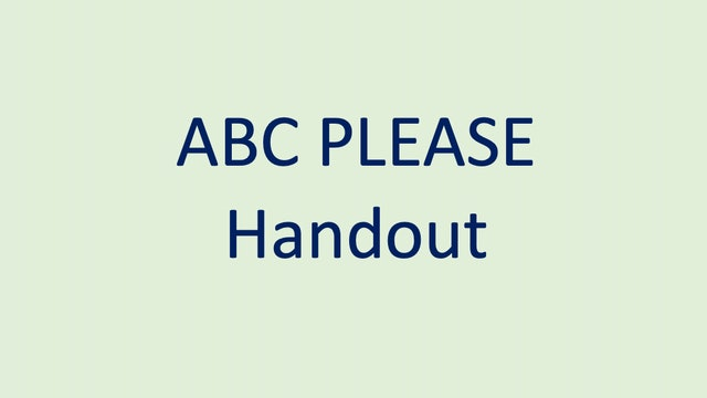 ABC PLEASE Handout
