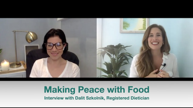 New! Making Peace with Food: Interview with Dalit Szkolnik