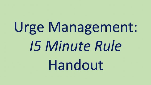 Urge Management Handout