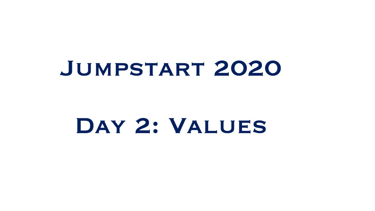 Day 2 - Values