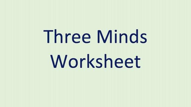 Three Minds Worksheet