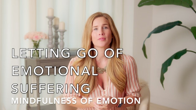 Reducing Emotional Suffering: Mindfulness of Emotion