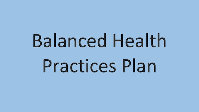 Balanced Health Practices Chart