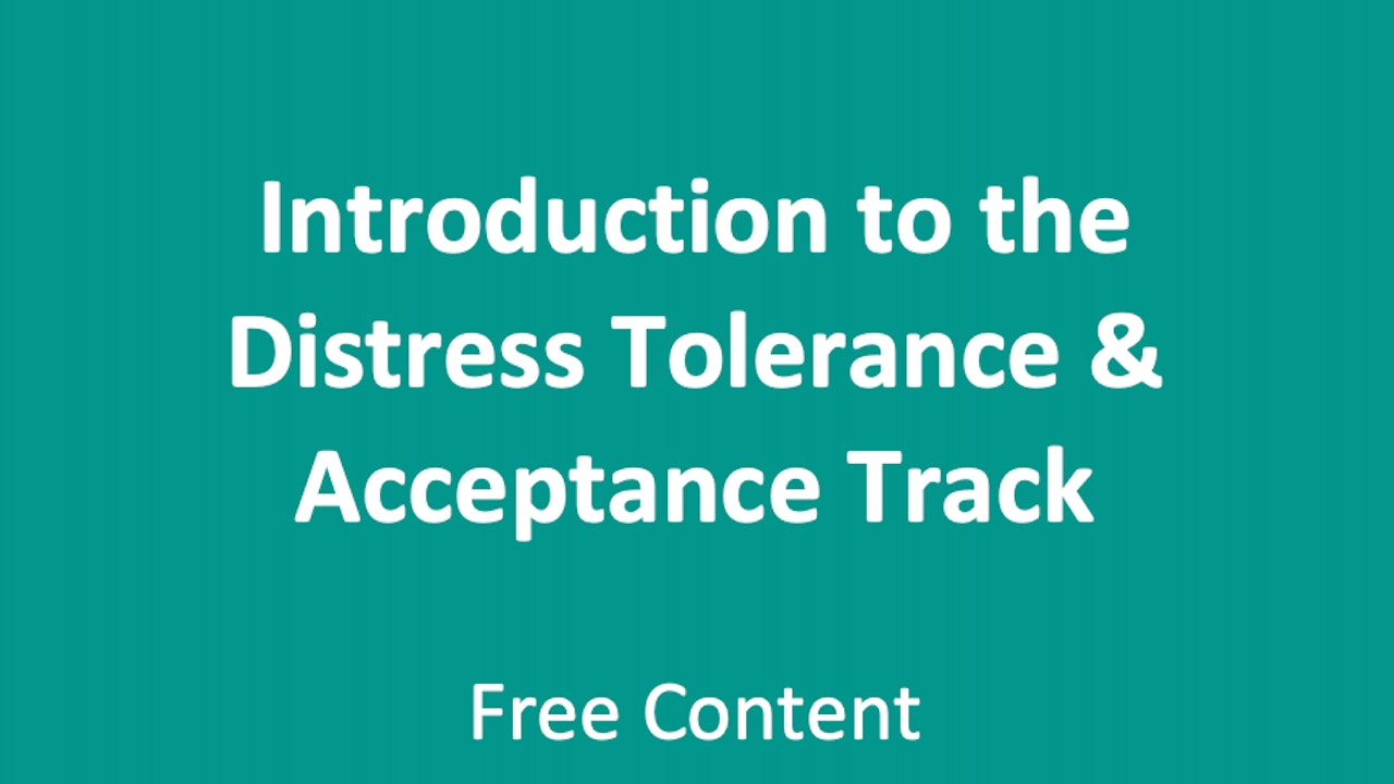 Introduction to Distress Tolerance & Accepting Reality