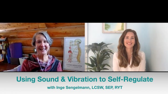Using Sound & Vibration to Self-Regulate
