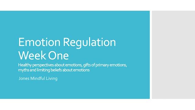 Emotion Regulation Week One PDF
