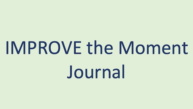 IMPROVE the Moment Journal