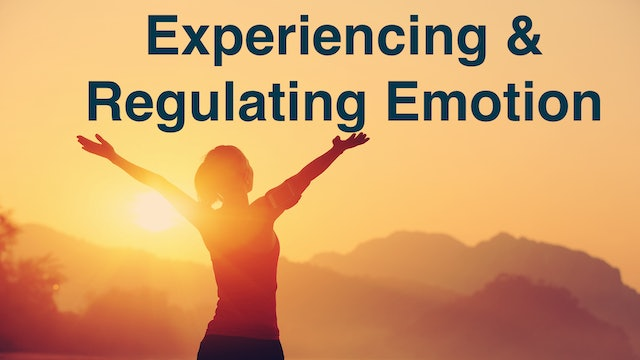 Experiencing & Regulating your Emotions