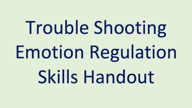 Trouble Shooting Emotion Regulation Skills Handout