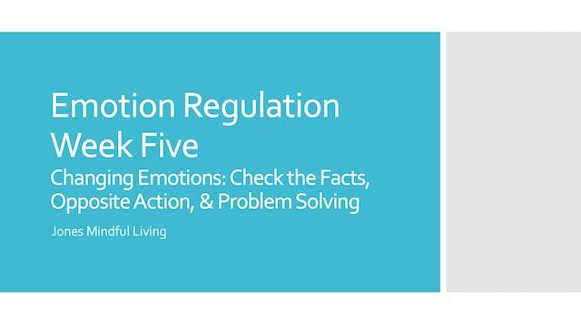 Emotion Regulation Week Five PDF