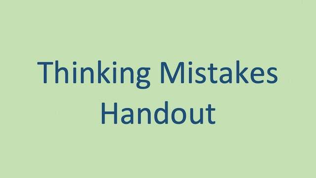 Thinking Mistakes Handout