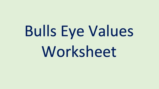 Bulls Eye Values Worksheet