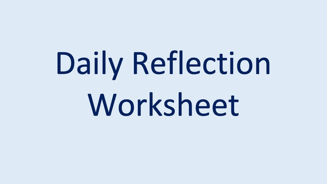 Daily Reflection Worksheet