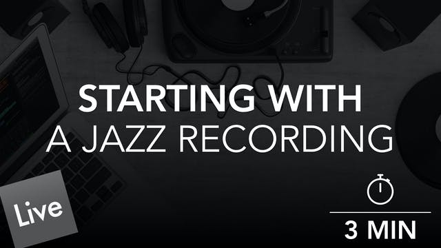 Starting With Jazz Recording Audio Stems