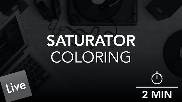 Color The tone with saturator in live 10