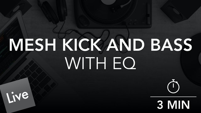 Mesh the kick and bass with FabFilter Pro-Q 3